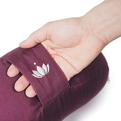 Lotuscrafts Yogakissen Halbmond Shanti Halbmondkissen Meditationskissen Mit Bezug Aus 100 Baumwolle Yoga Sitzkissen Halbmondformig Mit
